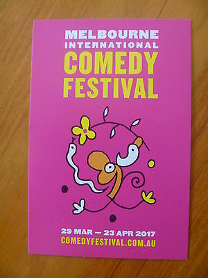 Postcard...2017 Melbourne International Comedy Festival....michael Leunig Art