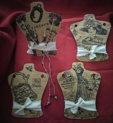 50 Vintage Look Necklace & Earring Display Cards  Jewelry hanging cards, Earring
