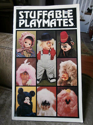 Vintage Stuffable Playmates dolls stuff animals puppets patterns