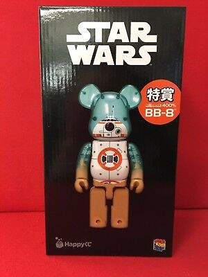 NEW BE@RBRICK STAR WARS BB-8 400% Happy Kuji Lottery Limited Bearbrick F/S Japan
