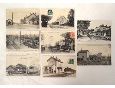 CPA cartes postales anciennes cartophile gares de France