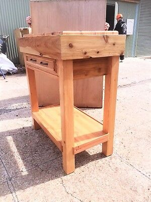 Butchers Block-Handmade with 2 Way opening Drawer