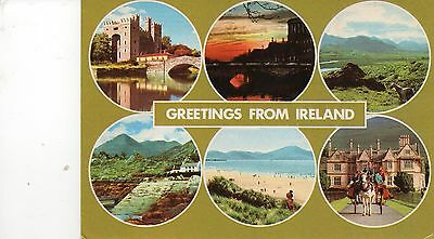 postcard Ireland  Greetings from Ireland multiview  posted  Hinde