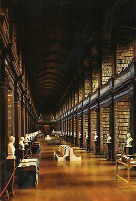 postcard Ireland  The Long room Trinity College Dublin  posted
