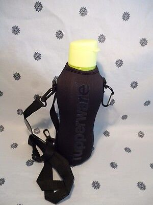 Tupperware Neon Yellow Eco Drink Water Bottle 1L with Insulated Cover New
