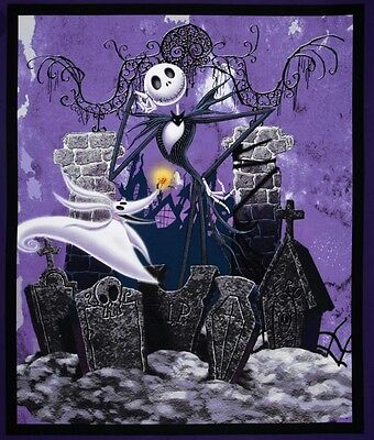 Disney * Nightmare Before Christmas Quilt Panel * Jack * In Stock * Free Post *
