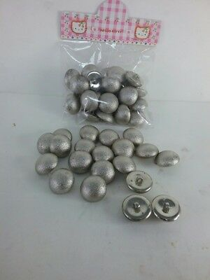30PCS Alloy Metal Buttons Baby Kids Sewing Backhole Shank DIY Craft