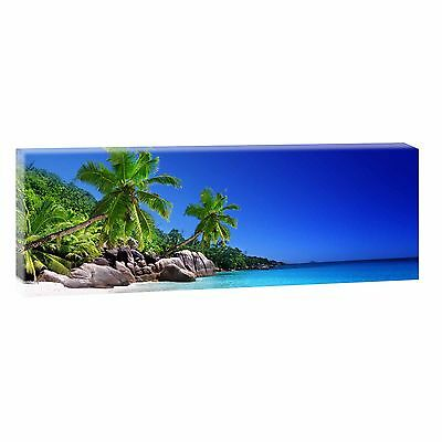 bilder auf leinwand strand meer poster wandbilder panorama xxl 120 cm 40 cm 224 eur 20 90. Black Bedroom Furniture Sets. Home Design Ideas