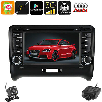 2 Din Car Dvd Player Audi Tt - Android 6.0, Car Dvr, Rear View Camera, Gps, 7 In