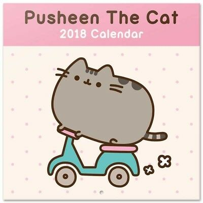 Pusheen The Cat (Free Poster ) Official Calendar 2018