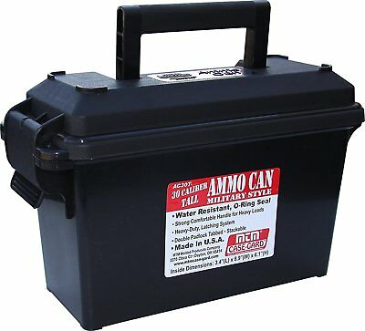MTM 30 Caliber Ammo Can Padlock Box Case Plastic Military Storage Shoot Black