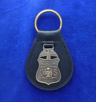 FBI Special Agent Leather Key Ring #US1
