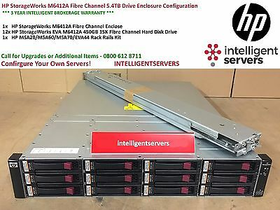 HP StorageWorks M6412A Fibre Channel 5.4TB 15K Drive Enclosure Configuration