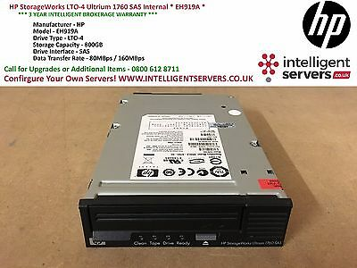 HP StorageWorks LTO-4 Ultrium 1760 SAS Internal * EH919A *