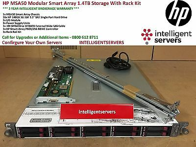 HP MSA50 Modular Smart Array 1.4TB SAS Storage With Rack Kit * 364430-B21 *