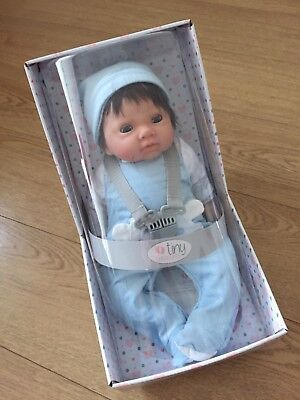 Chad Valley Tiny Treasures Newborn Doll with Blue Outfit