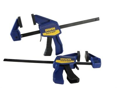 """Heavy Duty Irwin 150mm 6"""" Mini Bar One Handed Clamp Twin Pack Clamps Pair New"""