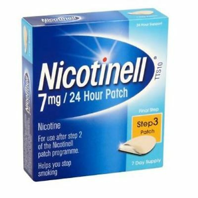 Nicotinell Nicotine Patch 7mg- Step 3 - 7 Days Supply Packs of 1 2 3 and 6