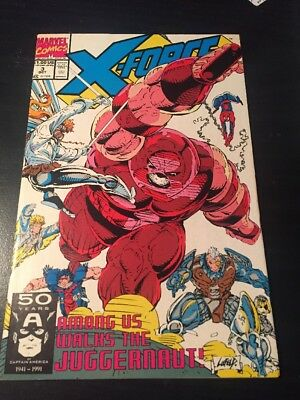 X-force#3 Incredible Condition 9.4(1991) Liefeld Art, Juggernaut Battle!!