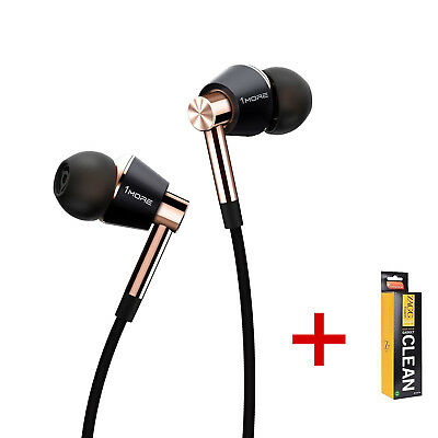 1More Triple Driver In-Ear Headphones For Apple, Android with Mic Remote+Cleaner