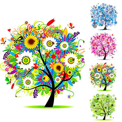 Spring Summer Autumn Winter Tree 5D Diamond Painting Home Room Decoration US