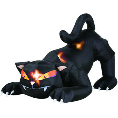 Lighted Inflatable Black Cat Halloween Decoration