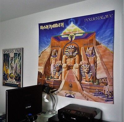 IRON MAIDEN Powerslave HUGE 4X4 BANNER poster tapestry wall decor album cd