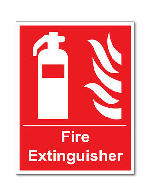 Fire Extinguisher Sign Self Adhesive Stickers Safety Signs
