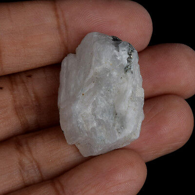 Egl Certified Natural 60 Ct. Iceland White Rainbow Rough Loose Gemstone V-5738