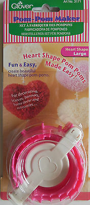 PomPon - Set from Clover for PomPons Heart-shaped 3171