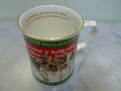 Ace England V Australia Ashes 2005 commemorative Mug Peter Jones Wakefield /3000
