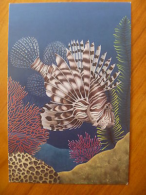 Postcard..common Lionfish....coral Reef...under The Sea....marine Life