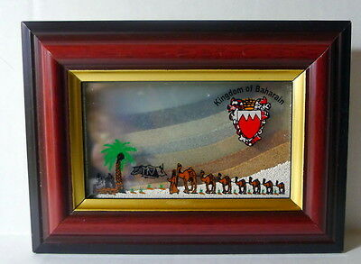 Kingdom of Baharain Sands Shadow Box Glass Encasement Souvenir