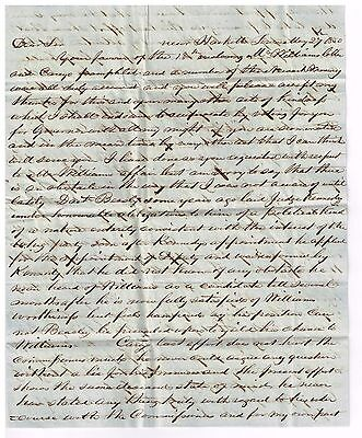 1850 stampless Aaron Robinson Hacketts town NJ letter Whigs Locofocos & monopoly