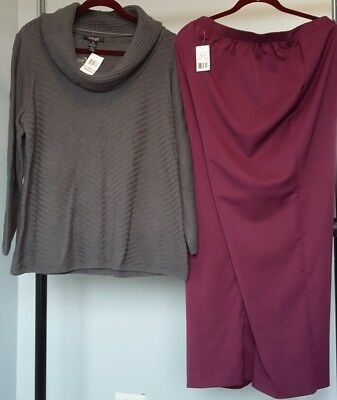 Cotton Sweater from Style & Co. & Alfred Dunner Pull On Pants-Size 1X-18W $100