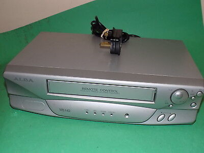 ALBA VCR6000SIL Video Cassette Recorder VHS VCR Silver Fully TESTED