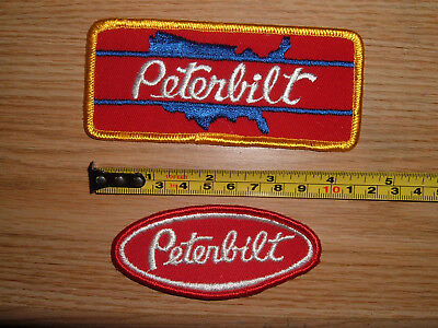 LOT 2 Vintage PETERBILT Truck PatchES Original! NOS