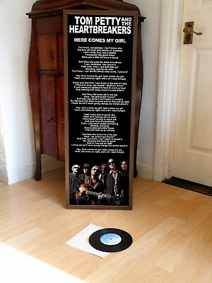 Tom Petty Here Comes My Girl Promotional Poster Lyric Sheet,torpedoes,country
