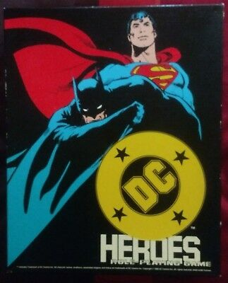 Mayfair Games DC HEROES RPG 2nd Edition 1989 Pre-Owned Batman Joker Superman