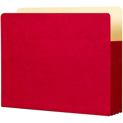 """Student Project Folders 9.5""""X11.75""""X3.5"""" 5/Pkg Ruby Red ST1524-RD"""
