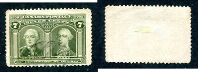 Used Canada 7 Cent Quebec Tercentenary Stamp #100 (Lot #13436)