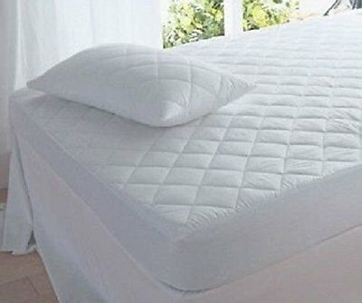 Bunk Bed 2Ft 6 Inch Poly Cotton Anti Allergy Quilted Mattress Protector Deep Box