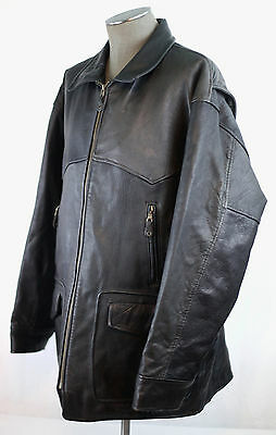 Vintage Banana Republic Heavy Duty Leather Jacket Car Coat Large Preowned