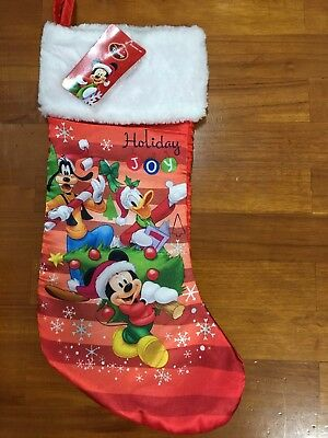 Disney Mickey Mouse & Friends Merry Christmas Stocking 16.5""