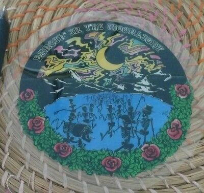 Sticker Vintage Grateful Dead, dancing in the moonlight, moon, roses, clear,