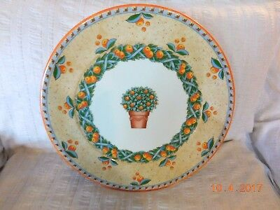 """New With Tag VILLEROY & BOCH NARANJA Switch 4  Chop Plate Round PLATTER 12"""""""