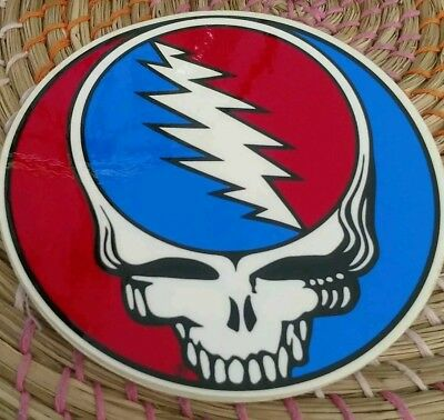Sticker Vintage Grateful Dead, Steal your face,  red on right