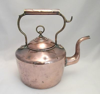 A Fine 19th Century Copper Kettle - Round Base