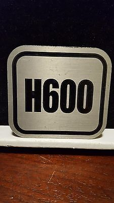 H600 Hobart nameplate plate with screws quart mixer w/ 3M 468 adhesive tag (002)