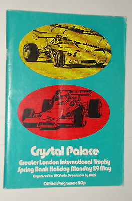 Crystal Palace International Trophy F2 Programme ,Bank Holiday May 29th 1972